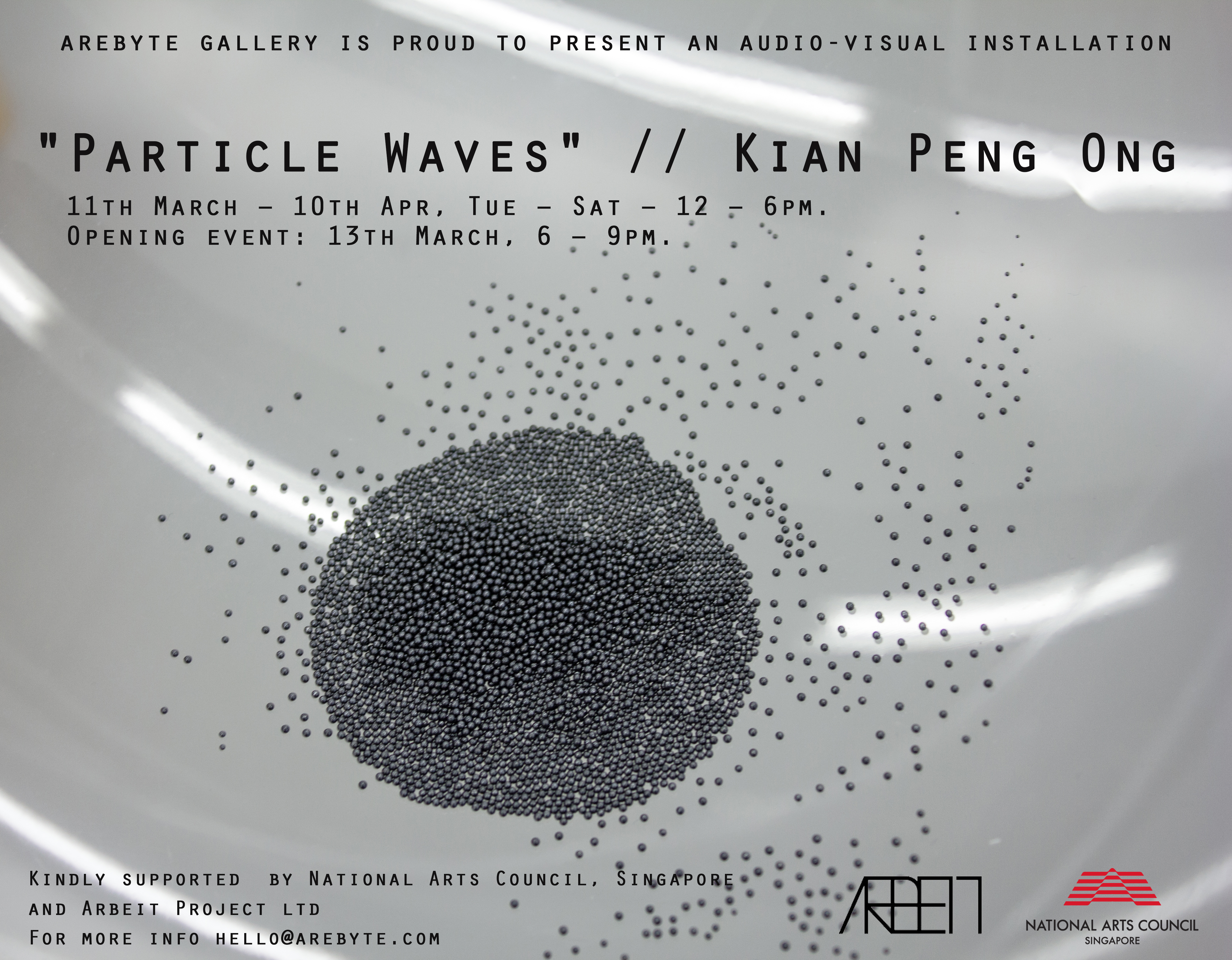 """Particle Waves"""" by Kian Peng Ong @ Arebyte Gallery 